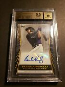 2018 Topps Industry Conference 1/1 Brendan Rodgers Platinum Auto Bgs 9.5 10 Auto