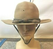 Vintage Post Ww1 Ww2 Interwar Cavalry Campaign Hat By Mallory Hat Co Yt26