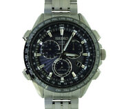 Free Shipping Pre-owned Seiko Astron Sbxb003 World Time Power Reserve