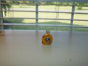Vtg Hand Painted Pencil Sharpener Little Puppy On Holiday Bell Metal Bell End