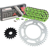 Green O-ring Drive Chain And Sprocket Kit For Honda Vt750c Shadow Ace750 1998-2003