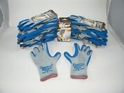 Bellingham Blue Premium Work Gloves C3000 - Size Small Knit Rubber - 12 Pairs