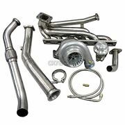 Cxracing Top Mount T3 Gt35 Turbo Kit Manifold For 92-98 Bmw E36 325i 328i