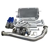 Cxracing Turbo Manifold Kit + Intercooler Oil Line For 1986-1992 Supra 7mgte Mk3