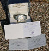 Chrono Breitling Limited Edition 1000 Pieces Blue Impulse Virato Gold 1995 Full