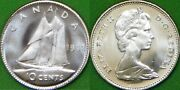 1968 Canada Silver Dime Graded As Brilliant Uncirculated From Original Roll
