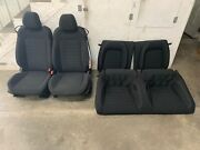 2015-2017 Ford Mustang Gt Black Cloth Front And Rear Seats. Power - Oem
