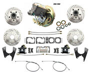 1970-74 Camaro Replacement Upgrade D/s Rotors Rear Disc Brakes And Booster Kit