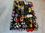 Discount Sale High End Costume Jewelry Lot C -50 Pair Clip-on Earrings