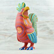 Rooster Alebrije Oaxacan Wood Carving A1843   Magia Mexica