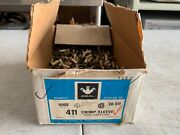 Box Of About 900 Ideal 411 Wire Crimp Sleeve Wire Connectors Nos