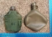 Vintage Lot Of 2 Canteens On Dated 1996 Us Skillcraft Yt27