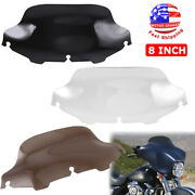 8 Wave Windshield Windscreen For 96-13 Harley Touring Street Electra Glide Flh