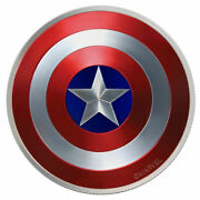 2019 Captain America Shield Proof - 10 Gram Silver Coin Proof - In Stock