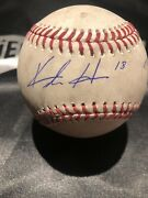 Keston Hiura Gameused Mlb Authenticated Debut Day Auto Baseball 5/14/19 Brewers