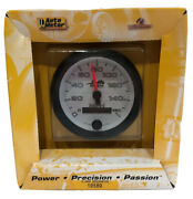 Auto Meter 3-3/8 White Pro-cycle Electric Programmable Speedometer 0-160mph