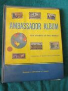 Ambassador World Stamp Book 1966 Issue With Many Stamps
