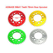 420and428 39and41 Teeth 76mm Aluminum Rear Sprocket For 50cc - 190cc Pit Dirt Bike