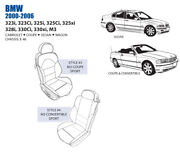Bmw M3 Front Leather Seat Cover Set 2000-06 Oem New