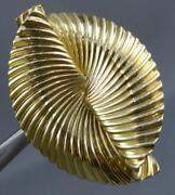 Estate Large And Co. 18kt Yellow Gold 3d Love Knot Oval Brooch Pin 26727