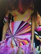 Spectacular Collectible Emilio Pucci Silk/crystals/ostrich Feather Runway Dress