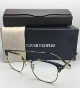 New Oliver Peoples Eyeglasses Willman Ov 5359 1003 49-19 Cocobolo And Antique Gold