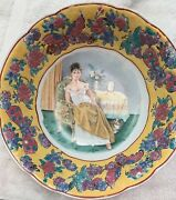 Rare Old Chinese Porcelain Bowl With Paintings Of Flowers And Butterflies Old Ma