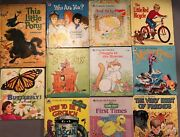 11 Whitman Golden Tell-a-tale Books Lot Sesame Street Little Pony Red Bicycle