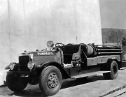 1931 Los Angeles County Forestry Fire Truck Old Photo 8.5 X 11 Reprint