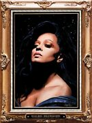 2013 Diana Ross Los Angeles Hollywood Bowl Velvet Painting Concert Poster 8/3