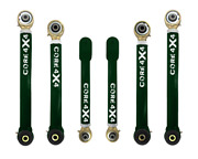 Adjustable Control Arms Complete Set T3 Grand Cherokee Wj 1999-2004 - Green