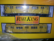 Brand New Mth 30-20627-3 Nyc Mta R-12 Two Car Subway Non Powered Work Trains