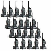 Baofeng Bf-888s Two Way Radio Walkie Talkie Programmable 16 Channels Pack Of 20