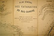 1896 General Plan Of The Cataracts Of The Lower Danube River Navigation Map