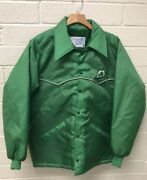 Vtg 80's Pioneer Seed Corn Agriculture Farm Feed Advertising Lined Jacket Size M
