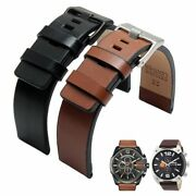 Leather Stainless Steel Strap Watchband Pin Buckle Band Watch Wrist Casual Best