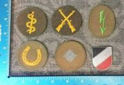 Vintage Ww2 Lot Of 6 Patches German Germany Tropical Afrika Korp Badges 93b
