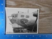 Vintage Ww2 Photo Unpublished 8th Air Force B-17 Plane Nose Bobby Sox 100c