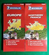 Lot Of Two 2007 Michelin Road Maps 705 Europe 724 Northern France