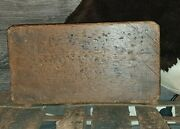 Antique 18th Stool, Small Seat 13x7x9 Quality Connections Good Wood Rare Item