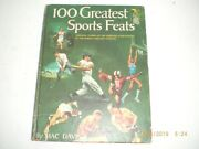 100 Greatest Sports Feats By Mac Davis Vintage Over-sized Hardcover