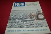 Ford Tractor 901 902 906 Rotary Cutter Dealers Brochure Amil15