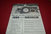 Ford Tractor 18 Inch Subsoiler Dealers Brochure Amil15
