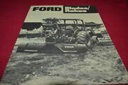 Ford Tractor Blades And Rakes For 1978 Dealers Brochure Amil15