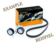 Contitech V-ribbed Belt + Pulley Kit For Renault Grand Scenic Ii 1.9-2l L4 L6