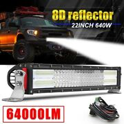 22 Inch 640w Offroad Led Work Light Bar Spot Flood Combo Lamp Vs 20and039and039 23 24and039and039