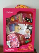 Our Generation Back To School Backpack Supplies Playset 18 Girl Doll American