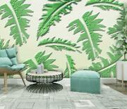 3d Plantain Relief A87 Wallpaper Wall Mural Removable Self-adhesive Sticker Zoe