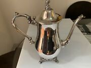 Oneida Silver Teapot Vintage 10 1/2 Inches Height