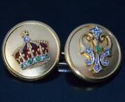 Gorgeous Rare Antique Royal 10k Pure Yellow Gold Menand039s Engagement Cufflinks Set